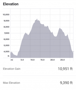 Courmayeur 55k Elevation Profile