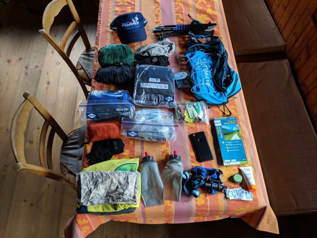 TMB gear list